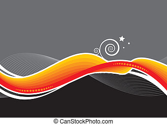 Abstract vector background with wave
