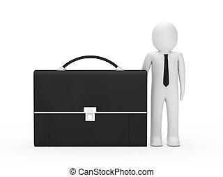 business man big briefcase