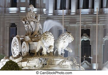 Cibeles - forefront of the Cibeles fountain, Madrid, Spain
