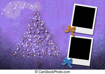Christmas Cards from two photo frames - Christmas tree...