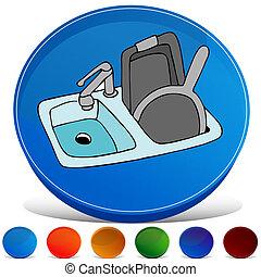 Kitchen Sink Gemstone Button Set - An image of a kitchen...