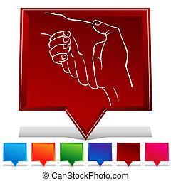 Handshake Gemstone Button Set