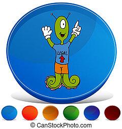 Alien Gemstone Button Set