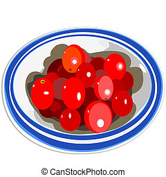 Tiny tomatoes in a small bowl