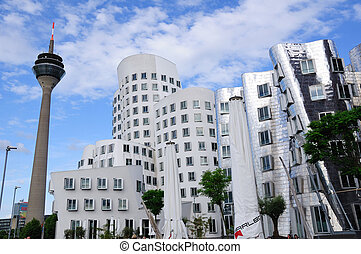 Dusseldorf, Germany - Skyscrapers and TV Tower in...
