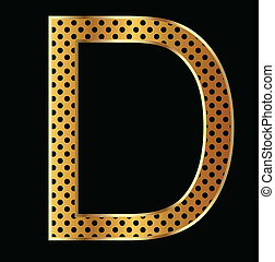 Letter D with tiger style