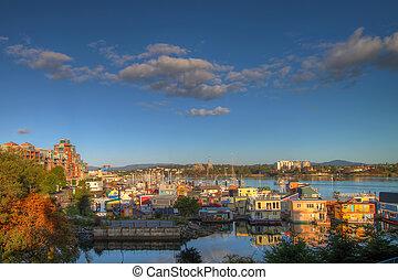 Victoria BC Fisherman's Wharf - Victoria BC Canada...