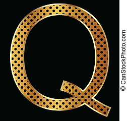 Letter Q with tiger style