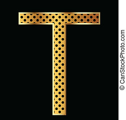 Letter T with tiger style