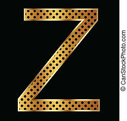 Letter Z with tiger style