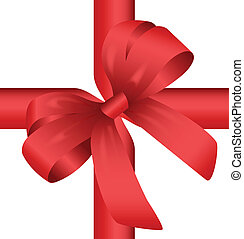 Red Gift Knot - Decorative Red Gift Wrapping Knot