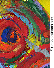 painting abstract texture background - acrylic painting...