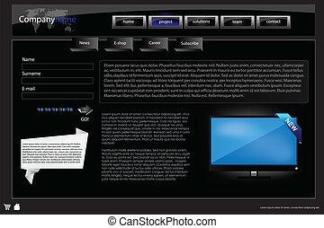 Web site design template 43