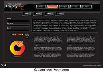 Web site design template 44
