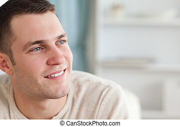 Smiling man posing