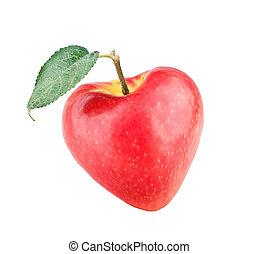 Coração, maçã