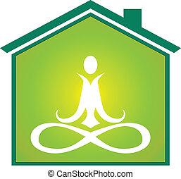 Yoga house icon
