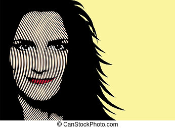 Pop art woman portrait