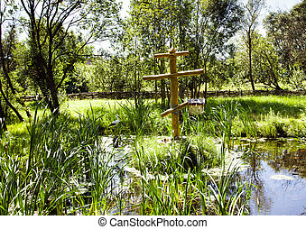 Religious cross - The wooden orthodox cross which is in...