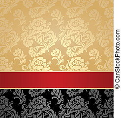 Seamless pattern, decorative background, floral, vector