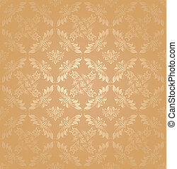 Seamless patterns, gold