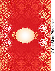 ornate frame - red and gold