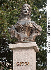 Sissi sculpure - Empress Elisabeth of Austria and Queen of...