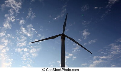 wind turbine generates electricity