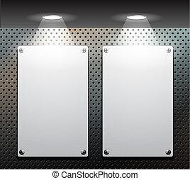 Two metallic plate