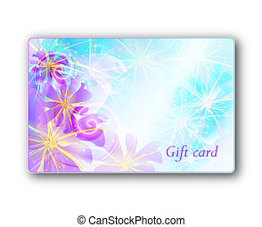 Gift card, flower design