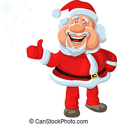 vector a happy Santa Claus shows that everything is fine! -...