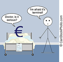 Euro - Doctor quack on the hospital ward and the Euro