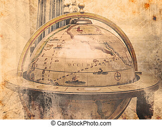 Vintage world map - Background of a vintage world map