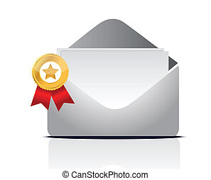 envelope containing and ribbon
