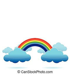 Rainbow and Clouds illustration
