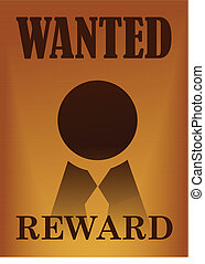 Wanted vintage poster illustration