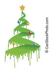 ink Christmas tree illustration