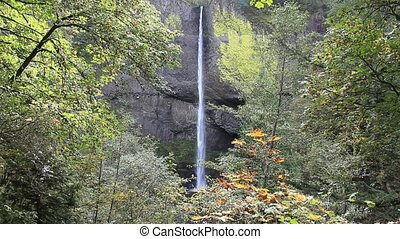 Latourell Falls located on the Oregon side of the Columbia...