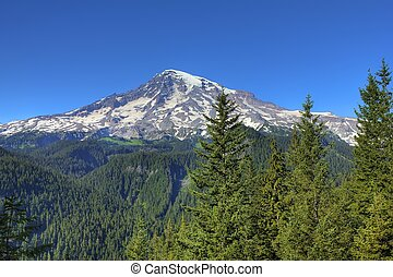 Mount Rainier located in Washington State