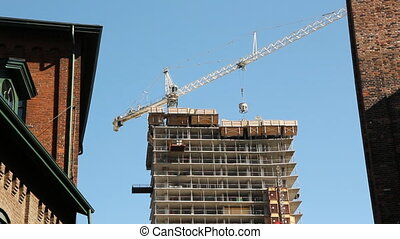 New condo construction - Condominium being built in Toronto,...