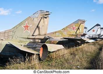 cemetery of old military aircraft