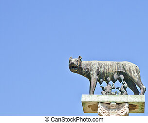 Wolf with Romulus and Remus - Romulus and Remus are Rome's...
