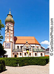 famous cloister of Andechs with brewery in Bavaria