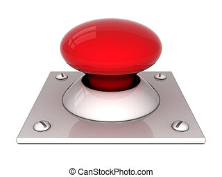 image the red button on a white background
