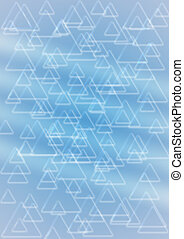Background from set of shining triangles - Abstract...