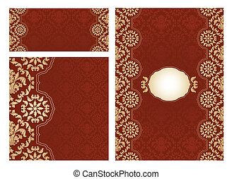 Set of ornament vector frames