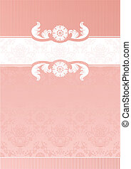 Pink Decorative Frame-template - Perfect as invitation or...