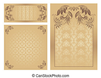 Set of ornate vector template, vector