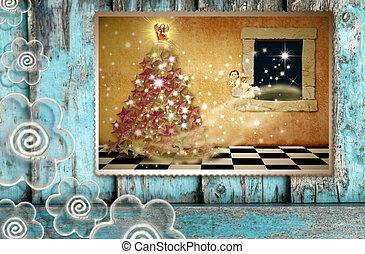 Greeting the spirit of Christmas