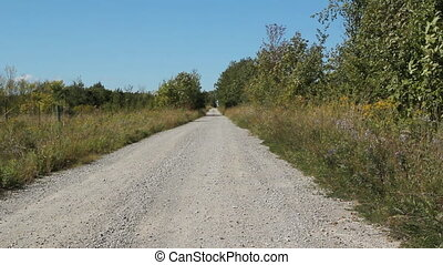 Country road - View of rural road in Ontario, Canada